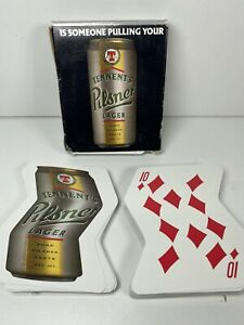 Playing Cards Tennents Pilsner Lager Zigzag Shape