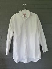 THOMAS PINK CLASSIC DRESS SHIRT SIZE 17 1/4 - 35 1/2  CRISP WHITE