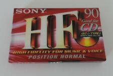 SONY HF 90 Position NORMAL ICE I TYPE I  Leerkassette Kassette Tape NEU