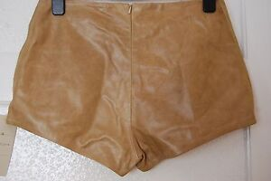 HIGH WAISTED LEATHER SHORTS ALL SIZES IN 3 COLOURS !!!