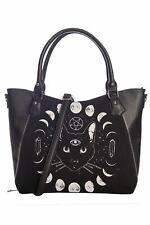 Banned Pentacle Coven Tote Moon Phase Goddess Feline Bag