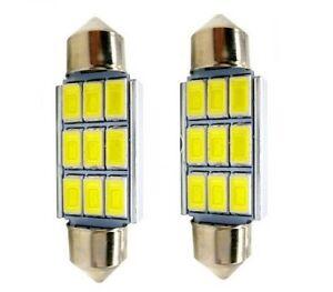 2 Ampoule C5W LED 39mm Navette 12V Blanc 6500K Canbus pour Coffre Habitacle 9SMD
