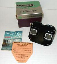 VIEW-MASTER VINTAGE MODEL C VIEWER IN BOX Sawyers EXC COND black bakelite