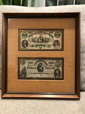 Framed Civil War Era Currency