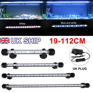 Aquarium Fish Tank Pond 5050 RGB LED Strip Lights Bar Lamp Submersible Lights UK