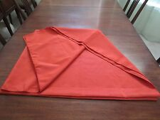 60 x 90 Tangerine Orange Tablecloth Polyester NWOT  Nice Quality