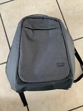 Cisco Systems Logo Backpack With USB Charging Port Gray Black Stylish
