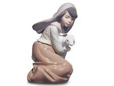 New Lladro #5484 Lost Lamb Nativity Brand Nib Girl Religious Nice Save$ Free Sh