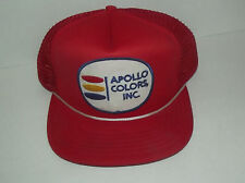 NEAT APOLLO COLORS INC TRUCKERS CAP WITH FOAM FRONT PANEL AND MESH BACK