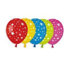 "Balloon Star Print 30cm-12"" Assorted Colours 10pcs Birthday- Party- Celebration"