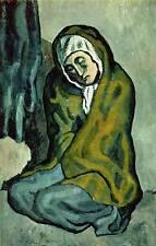 "Vintage 1965 Pablo Picasso Book Plate Print ""Destitute Woman"""