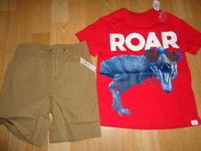Nwt 4 years baby Gap outfit dinasour roar red top and shorts