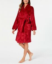 NWD Charter Club Floral Burnout Robe, Red, M/L
