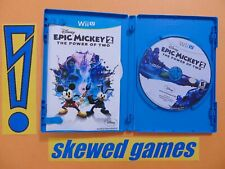 Epic Mickey 2 The Power Of Two - cib - Mint - Wii U Nintendo