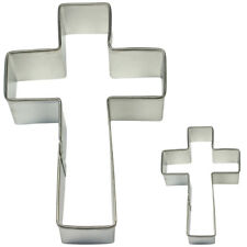 Pme Cake Baking Metal Cross Christian Cookie Shape Cutter 2 Pack Small & Large