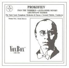 Prokofiev: Ivan the Terrible; Alexander Nevsky; Lt Kizheh - Slatkin - 2 CD set