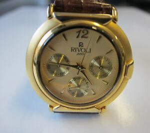 RIVOLI Quartz  Analog fancy watch Gold/leather - limited edition Unisex