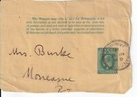 Newspaper Wrapper printed Jamaica Halfpenny Stamp Postmarked Kingston 12/8/1915