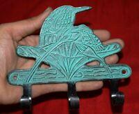Brass Jacket Hanger Woodpecker Bird Design Handmade Clothe Wall Decor Hook MJ123