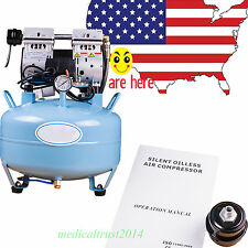 30L 8Mpa Dental Silent quiet Noiseless Oil fume Oilless Air Compressor machine