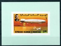 451320) Mauretanien Block mit Nr. 542 B **, Zeppelin