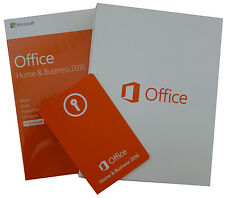 MS OFFICE 2016 Home & Business Dauerhafte Lizenz Vollversion BOX ML MUI Deutsch