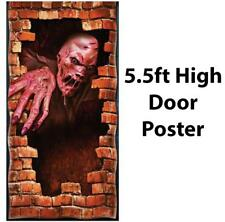 HALLOWEEN DECORATION MELTING ZOMBIE DOOR POSTER FANCY DRESS ACCESSORY PARTY