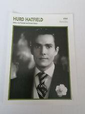Hurd Hatfield - Fiche cinéma - Portraits de stars 13 cm x 18 cm