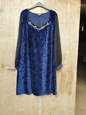 WORN Joe Browns Blue Size 20 Dress/ Long Top - 704