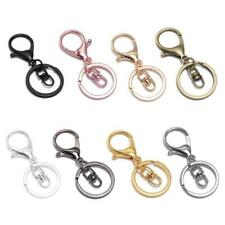 10 Pcs Metal Swivel Clasp Key Ring Metal Lobster Claw Clasp Keychain DIY Jewelry