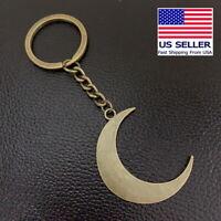 Vintage Crescent Moon Bronze Pendant Keychain Gift Key Chain