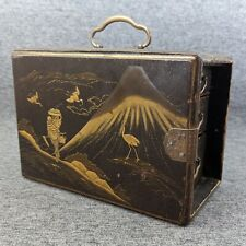 More details for antique japanese kodansu lacquer cabinet drawers