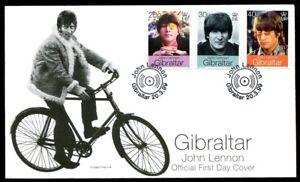 Beatles John Lennon and Yoko Ono Gibraltar Wedding 3 Stamp Set FDC