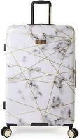 """NEW Juicy Couture Vivian Marble Web 21"""" Hardside Spinner Carry on Suitcase"""