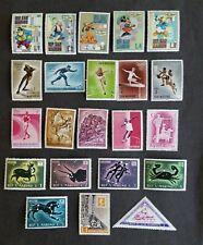 60 Mint San Marino stamps Disney, Olympics, Dinosaurs 1953 & up