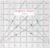 Crafters Dream Transparent Matelassage Patchwork Règle En Modèle 21.6cm x CD8585