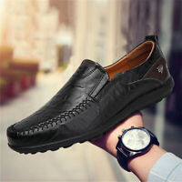 Men's Casual Leather Shoes Fashion Antiskid Slip On Driving Loafers Moccasins US