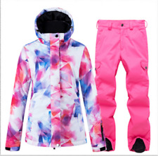 Women's Winter Waterproof Ski Clothing Snowboard Jacket Coat+Pants Set Snowsuits