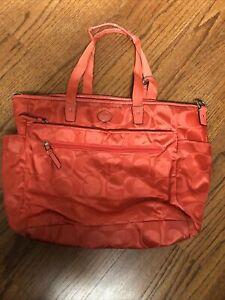 Coach Large Diaper or Tote Bag - Used - Orange - Authentic