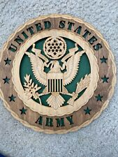 Wooden US Army Wall Plaque