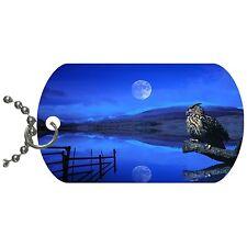 Eagle Owl  Metal Necklace Pendant Dog Tag