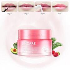 Strawberry Lipstick Moisturizing Balm Nourish Sleep Mask Vitamin Lip Night Cream