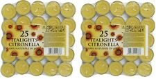 Prices Citronella Tealight Candles T Light Gardens Patio Wasp Pack Of 50 New