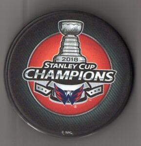 Washington Capitals 2018 NHL Stanley Cup Champions Hockey Puck + FREE Cube