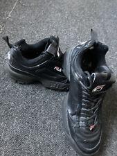 Fila Trainers  7 Black Chunky Ladies Womens Shoes Funky