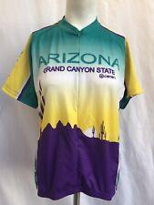 CANARI Woman Arizona Grand Canyon State Cycling Jersey Green Yellow Sz XL
