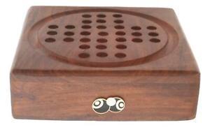 Bowls & Jack Black Enamel Wooden Solitaire Set Board Game FREE ENGRAVING 40