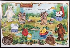 Teddy Bear Camp Counselors Paper Doll, 1994, By M Michele Thorp, Mag. Pd