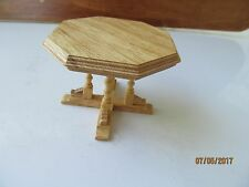 Dollhouse One Inch Scale Natural Oak Table