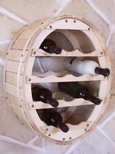 Botellero para Vino Recipiente Colgar 12 Fl. Natural Laqueado Botellas Estante